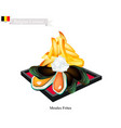 moules frites a national dish of belgium vector image