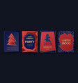 new year and merry christmas party invitation vector image