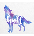 Painted animals wolf vector image vector image