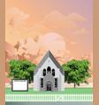 parish church notice board at dawn vector image vector image