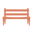 park chair wooden icon vector image vector image