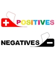 positive negative vector image vector image