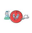 professor bowling ball character cartoon vector image vector image