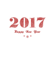 red new year lettering vector image vector image