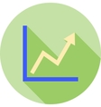 Rising Line Graph vector image vector image
