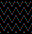seamless glitch pattern color on black vector image vector image