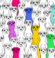 Seamless Pattern Of Smiling Meerkats