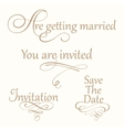 Set collection of wedding calligraphy inscriptions vector image vector image