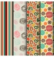 set of seamless abstract pattern in retro style vector image