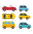 set of vehicles design vector image vector image
