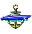 ships yachts and boats icons set with navigation vector image vector image