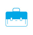 silhouette elegant briefcase to save business vector image vector image
