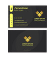 simple elegant black business card vector image vector image