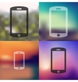 smartphone icon on blurred background vector image vector image