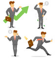 smiling businessman character set vector image vector image