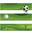 Soccer design banners vector image vector image