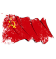 Soviet Union flag Grunge vector image vector image
