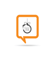 square orange speech bubble with new year ball vector image vector image