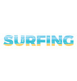 surfing in the double exposure vector image