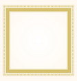 trendy stylish formal golden square frame border vector image