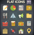 Universal Flat Icons for Applications Set 4 vector image vector image