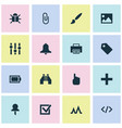 user icons set with image stabilizer brush and vector image vector image