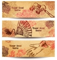 Vintage girl fasion banners vector image