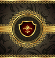 vintage with heraldic elements vector image vector image