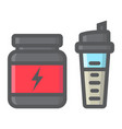 whey protein with shaker filled outline icon vector image vector image