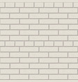 white brick wall pattern interior graphic vector image