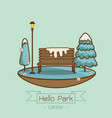 winter park natural landscape vector image vector image