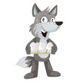 wolf with eggs on white background vector image vector image