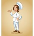 woman girl chef kitchen restaurant design vector image