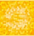 yellow hexagon background vector image vector image