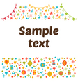 Empty blank with funny colored design elements vector image