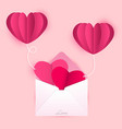 love letter cards and balloons vector image