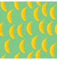 Seamless pattern of bananas with green background vector image