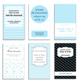 Set of cute cards with dots theme design vector image