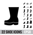 shoes icon set vector image