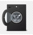 3d realistic modern black steel opened vector image