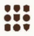 a set shields for logo vector image