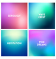 abstract blue pink blurred background set 4 vector image vector image