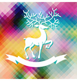 Abstract color Xmas Background with deer vector image