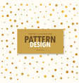abstract gold and white pattern background vector image vector image