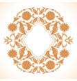 arabesque vintage gold decor ornate pattern for vector image