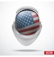 Astronaut helmet with flag USA vector image vector image