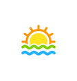 beach wave logo icon design vector image
