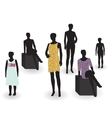 beauty and fashion mannequin in clothes vector image
