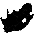 Black South Africa vector image vector image