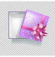 bright gift box wrapped in checkered paper with vector image